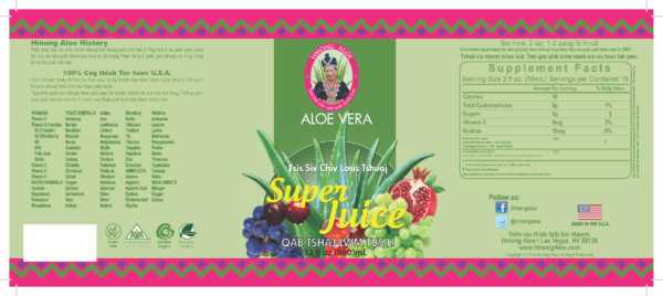 Aloe Vera Superjuice Ingredients